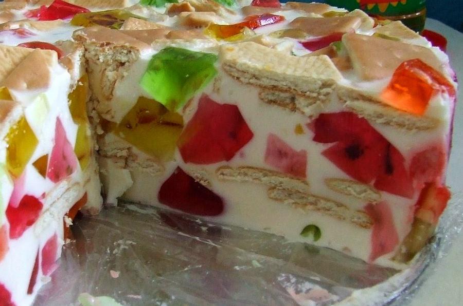рецепт приготовления торта с фруктами с желе