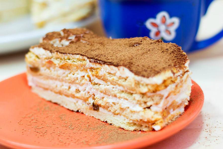 торт з крекерів