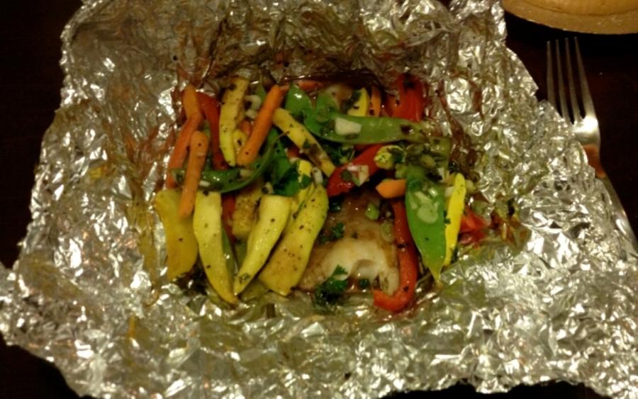 овочі запечени в фользи