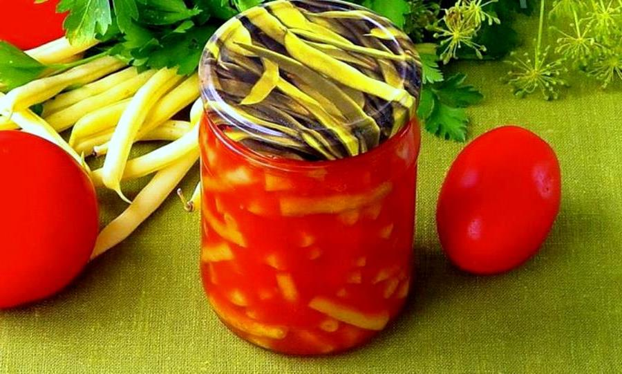 Шпарагівка консервована в томатному соусі на зиму